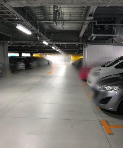 立体駐車場の中の様子