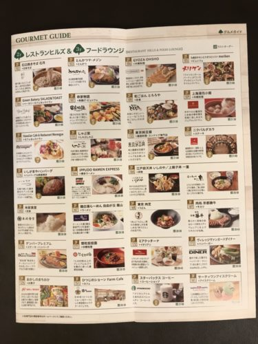 レストランの店舗
