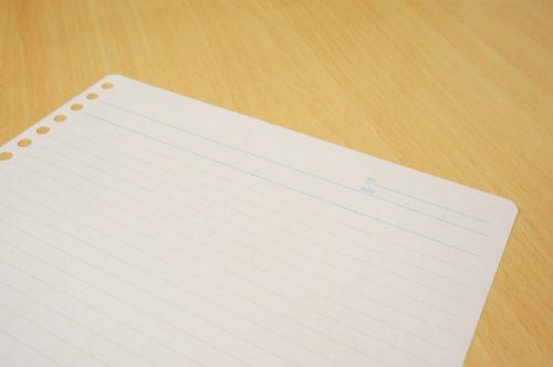 手紙のハートの折り方 ルーズリーフで作る時のコツはある?