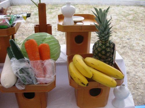 地鎮祭の野菜果物の役割は?