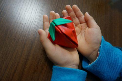 いちごの折り方で立体的に見せるには?