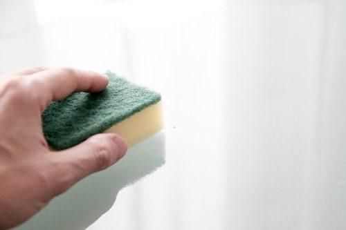 玄関タイルの掃除はメラミンスポンジを使え!