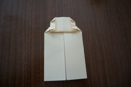 ミッキーの顔の折り方10