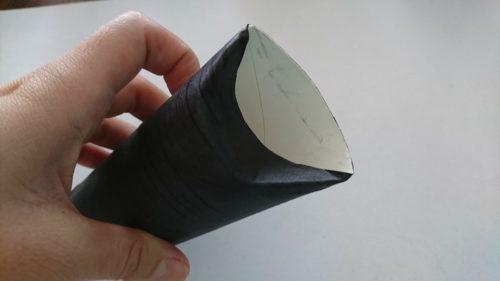 トイレットペーパーの芯でコウモリ