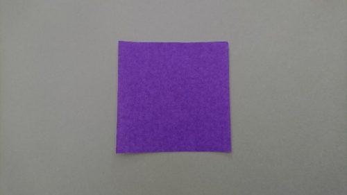 コウモリの折り方1