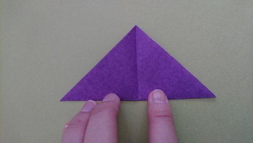 コウモリの折り方3