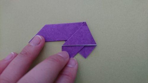 コウモリの折り方5