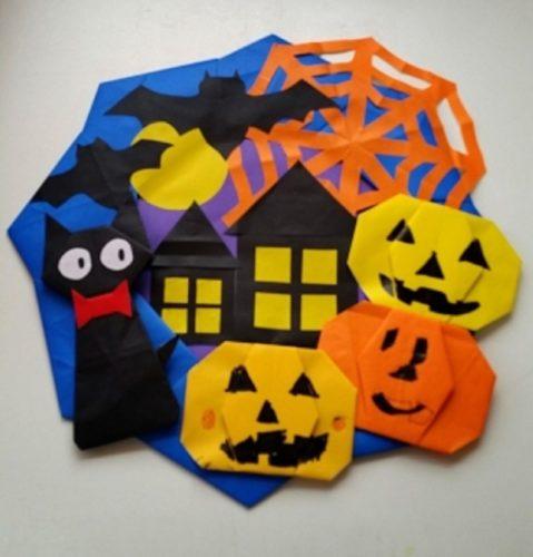 ハロウィンに折り紙でリースを作る手順は?
