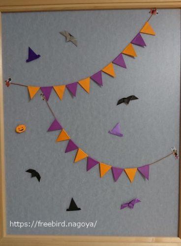 ハロウィンの飾り付け ドア