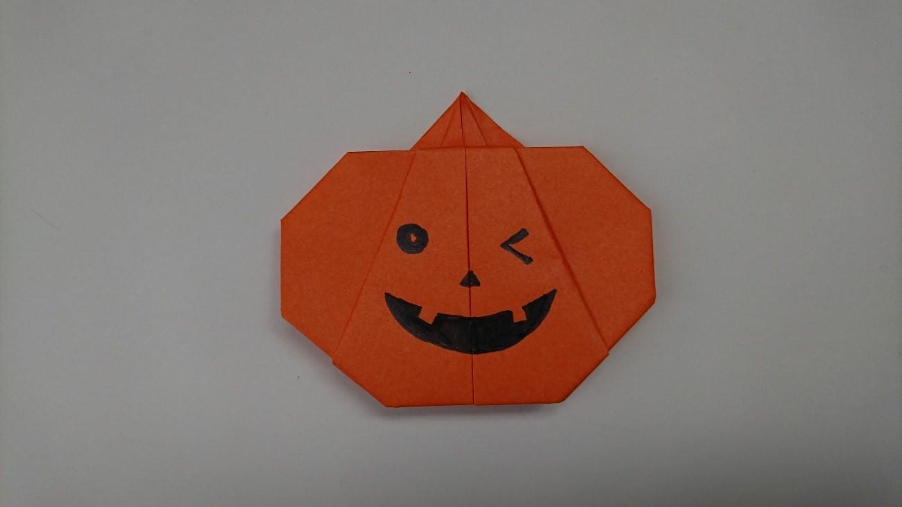 ハロウィンのカボチャを折り紙で折るときの手順はこちら^^