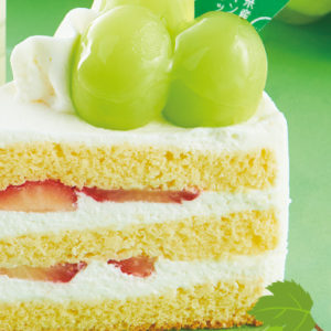 山梨県産シャインマスカットのプレミアム純生クリームショートケーキ